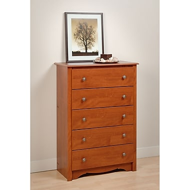 Prepac™ Cherry Monterey 5 Drawer Chest