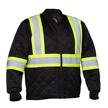 Forcefield Safety Freezer Jacket, Black, XL