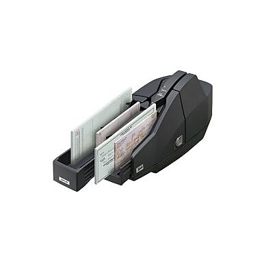 Epson TM-S1000, Captureone Check Scanner, Single Feed, 1 Pocket, Epson Dark Grey, Power Supply, USB Cable, Franking Cartridge,