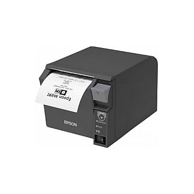 Epson TM-T70Ii, Front Loading Thermal Receipt Printer, Serial and USB, Epson Black, Power Supply Included, Req Cable