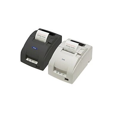 Epson TM-U220B, Mpos, Dot Matrix Receipt Printer, Ethernet (E03), Epson Dark Grey, Autocutter, Power Supply Included