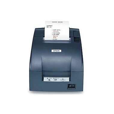 Epson TM-U220B, Dot Matrix Receipt Printer, Ethernet (E03), Epson Dark Grey, Autocutter, PS-180 Included