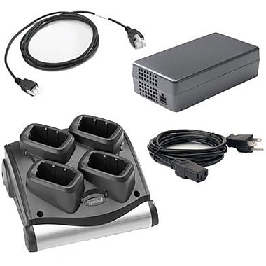 Zebra Enterprise 4-slot Battery Charger Kit, for MC90x0 & MC9190, Includes Power Supply (Pwrs-14000-242r), Dc Cord (25-72614