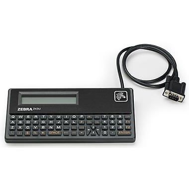 Zebra, Keyboard Display Unit (Zkdu), for All Epl and Zpl Printers, 62-key Qwerty Keyboard, Serial Port