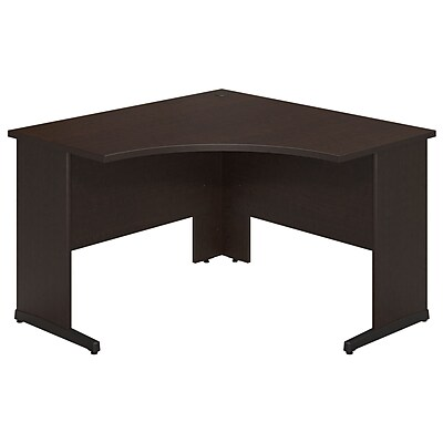Bush Business Westfield Elite 48W x 48D C-Leg Corner Desk, Mocha Cherry, Installed