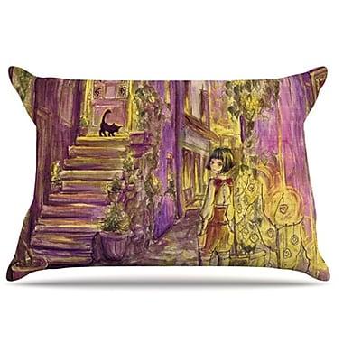 KESS InHouse Down The Alleyway Pillowcase; King