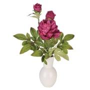 House of Silk Flowers Artificial Peony in Ceramic Vase