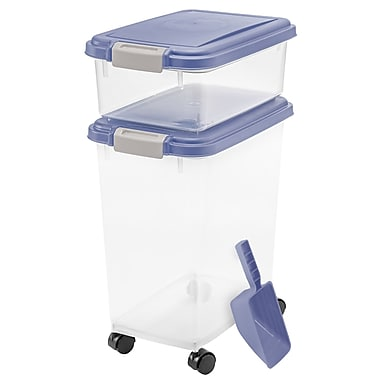 Zoey Tails 3 Piece Airtight Pet Food Container; Light Purple