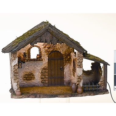Fontanini 10'' Lighted Medium Nativity Stable