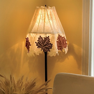 Heritage Lace Leaf Four Way 60'' Polyester Empire Lamp Shade