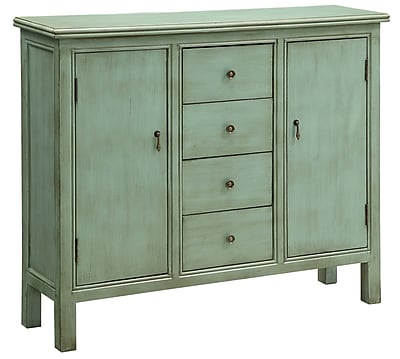 Crestview Belgrade Wall 4 Drawer 2 Door Cabinet; Green WYF078276265777