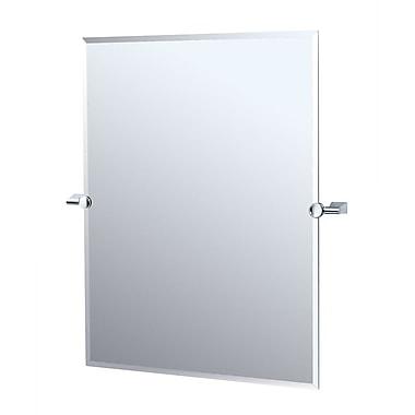 Gatco Bleu Rectangular Mirror; Chrome