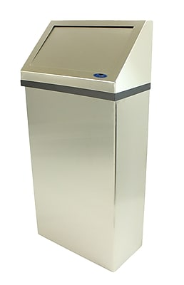Frost Wall Mounted Waste Receptacle; Stainless Steel