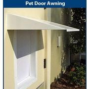 PlexiDor Universal Pet Door Awning; White