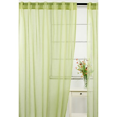LJ Home Whisper Solid Sheer Rod Pocket Panel Pair (Set of 2); Green