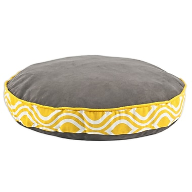 Brite Ideas Living Passion Suede Round Pet Bed w/ Nichole Band and Top Cording; 33'' L x 33'' W