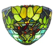 River of Goods Hampstead Tiffany Stained Glass 8.25'' ght LED Half Moon