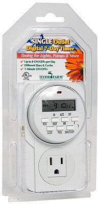 Hydrofarm 7-Day Grounded Digital Programmable Timer