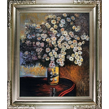 Tori Home Asters by Claude Monet Framed Painting Print