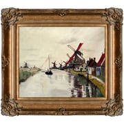 Tori Home Windmills in Holland by Claude Monet Framed Painting Print