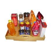 JA Marketing Natural Wood Expandable Kitchen Closet Floor Shelf on Wheels