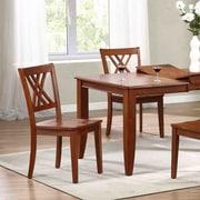 Iconic Furniture Solid Wood Dining Chair (Set of 2); Cinnamon / Cinnamon