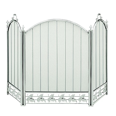 Minuteman 3 Panel Steel Fireplace Screen; 29'' H x 51.5'' W