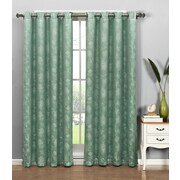 Window Elements Dana Curtain Single Panel; Aqua