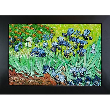 Wildon Home Irises by Vincent Van Gogh Framed Painting