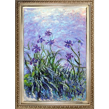Tori Home Lilac Irises by Claude Monet Framed Painting Print