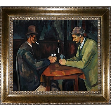 Tori Home Card Players w/ Pipes by Paul Cezanne Framed Painting