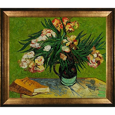 Tori Home Majolica Jar w/ Branches of Oleander, 1888 by Vincent Van Gogh Framed Painting