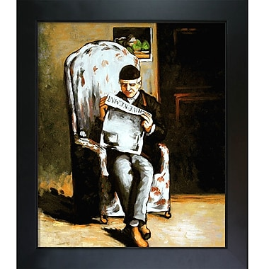 Tori Home Artists Father Reading by Paul Cezanne Framed Painting