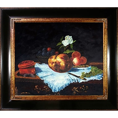 Tori Home La Brioche by Edouard Manet Framed Painting Print on Wrapped Canvas