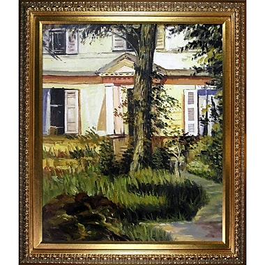 Tori Home 'The House at Rueil' by Edouard Manet Framed Oil Painting Print on Wrapped Canvas