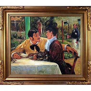Tori Home In Pere Lathuille by Edouard Manet Framed Painting Print on Wrapped Canvas