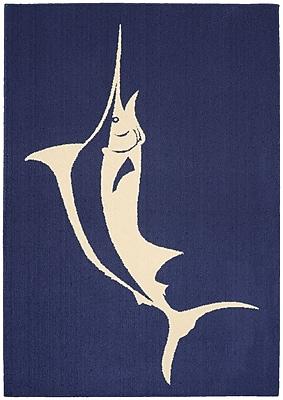 Garland Rug Marlin Indigo/Ivory Area Rug