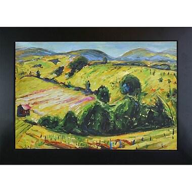 Tori Home Fauve Landscape w/ Rolling Hills by Alfred Henry Maurer Framed Painting Print