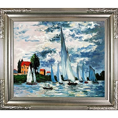Tori Home Regates at Argenteuil by Claude Monet Framed Painting