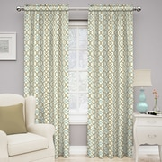 Traditions by Waverly Make Waves Single Curtain Panel; Latte