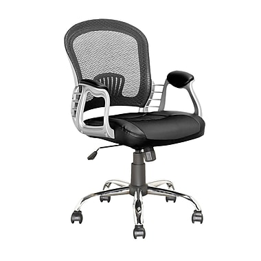 CorLiving LOF-208-O Workspace Executive Office Chair, Black Leatherette and Mesh