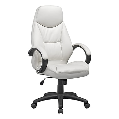CorLiving LOF-518-O Workspace Executive Office Chair, White Leatherette