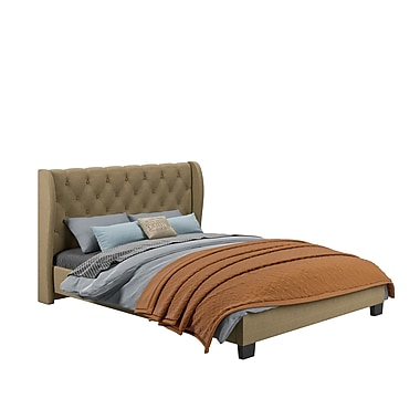 CorLiving™ BFF-273-Q Fairfield Tufted Latte Upholstered Queen Bed