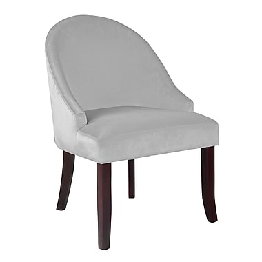 CorLiving™ DAD-312-C Antonio Accent Chair, White Velvet