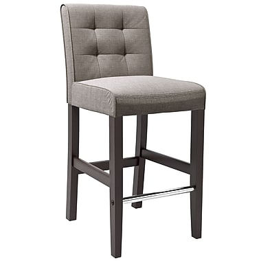 CorLiving™ DAD-423-B Antonio Bar Height Barstool, Grey Tweed Fabric