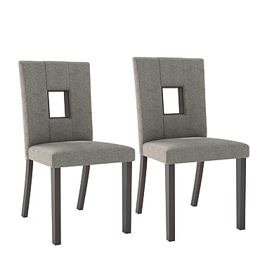 CorLiving™ DIP-421-C Bistro Grey Sand Dining Chairs, Set of 2