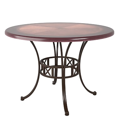 CorLiving™ DJS-479-T Jericho Metal and Warm Stained Wood Dining Table