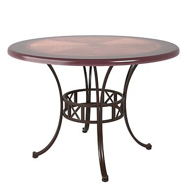 CorLivingMC – Table de salle à manger Jericho DJS-479-T en métal et en bois teinté chaleureux