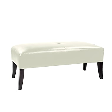 CorLiving™ LAD-615-O Antonio Bench, White Bonded Leather