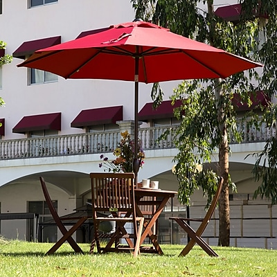 Abba Patio 9' Market Umbrella; Red WYF078278353474